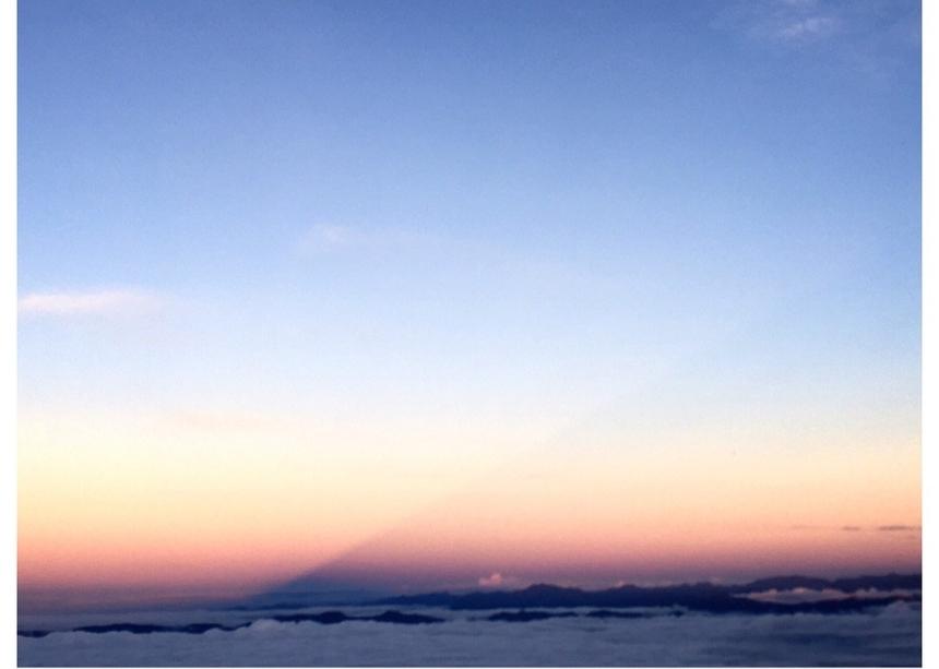 朝焼け 影富士